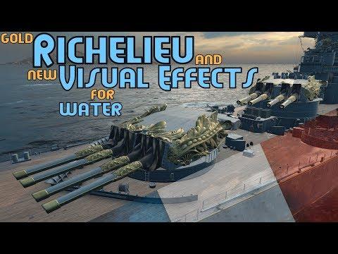 The final camo of Richelieu ! $GOLD SHIP$ World of Warships