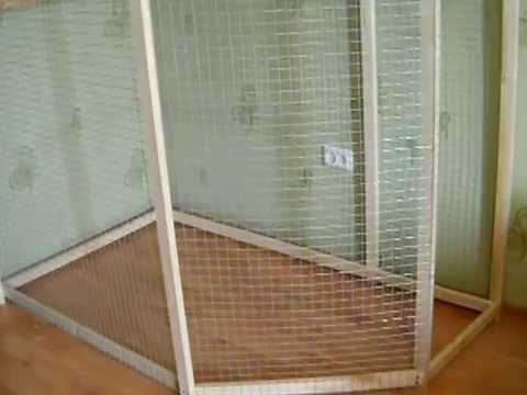 Строим вольер для попугаев Нимфа - Корелла 3 день.