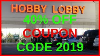 Hobby Lobby Coupon 2019 40 Off One Item At Regular Price Youtube