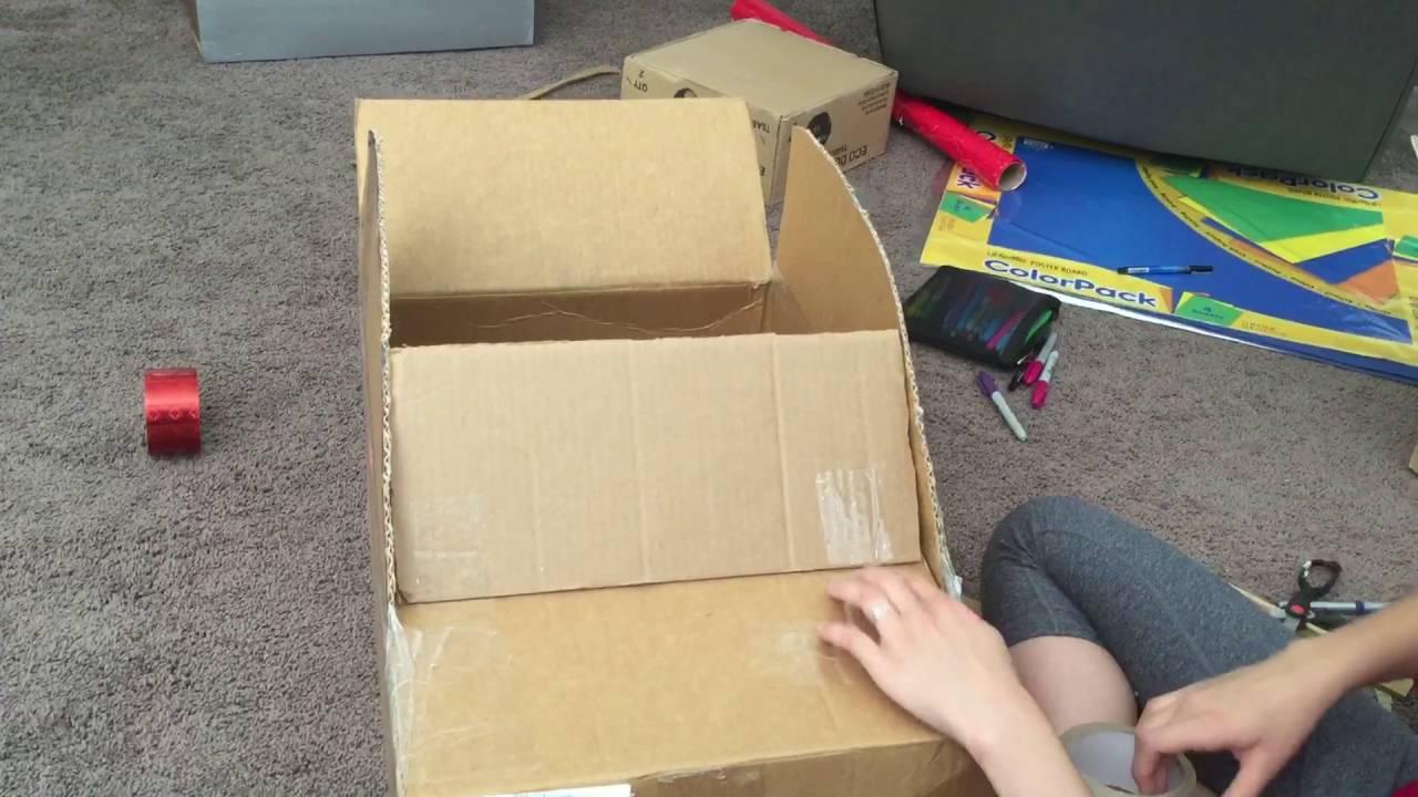 Como hacer un carro con una caja de carton pt 5 youtube - Como hacer una caja ...