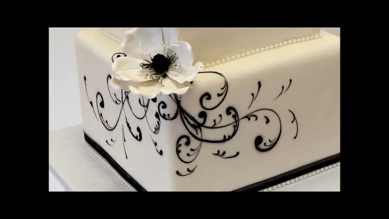 Black and White Wedding Cake | Wedding Cake Idea | Wedding cake ...