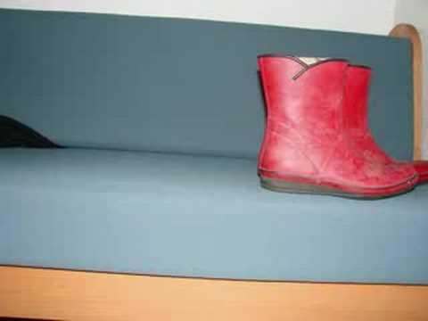 røde gummistøvler tekst