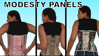 Corset Lacing: Dealing with Modesty Panels (3 types) | Lucy