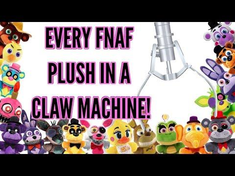 EVERY FNAF PLUSH EVER IN A CLAW MACHINE 2!•Pandog76