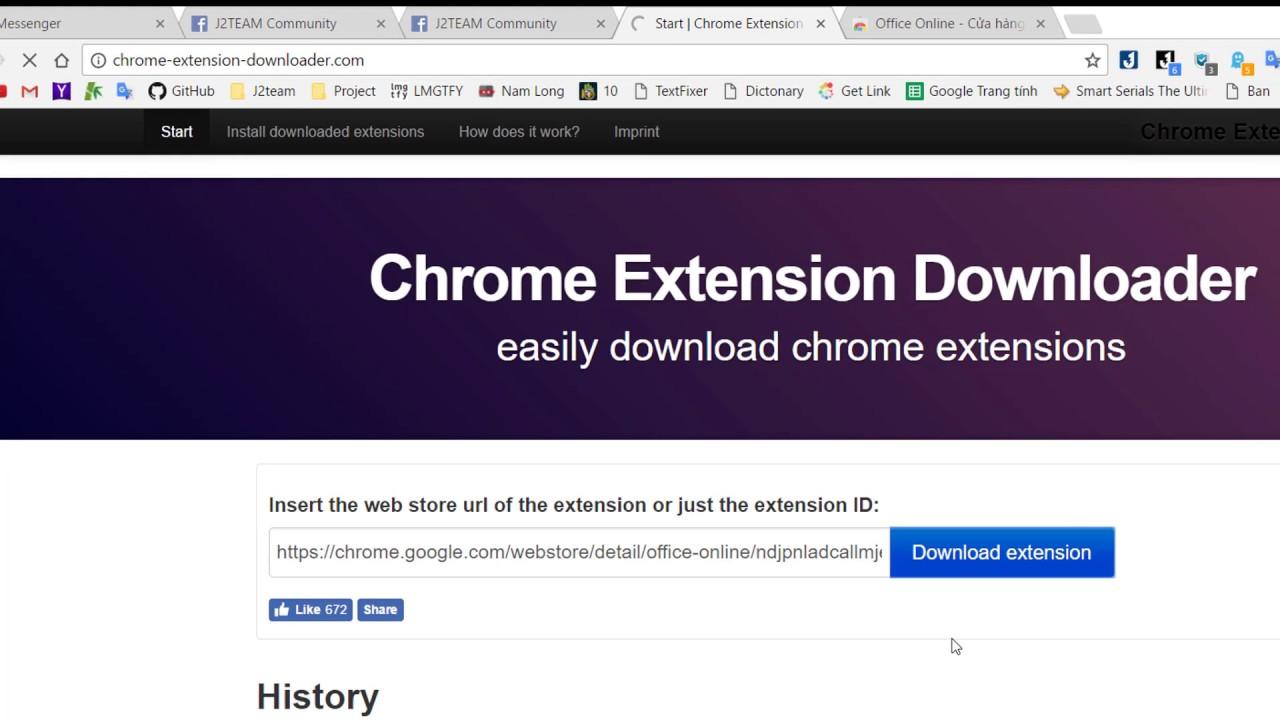 J2TeaM Download Extension Chrome