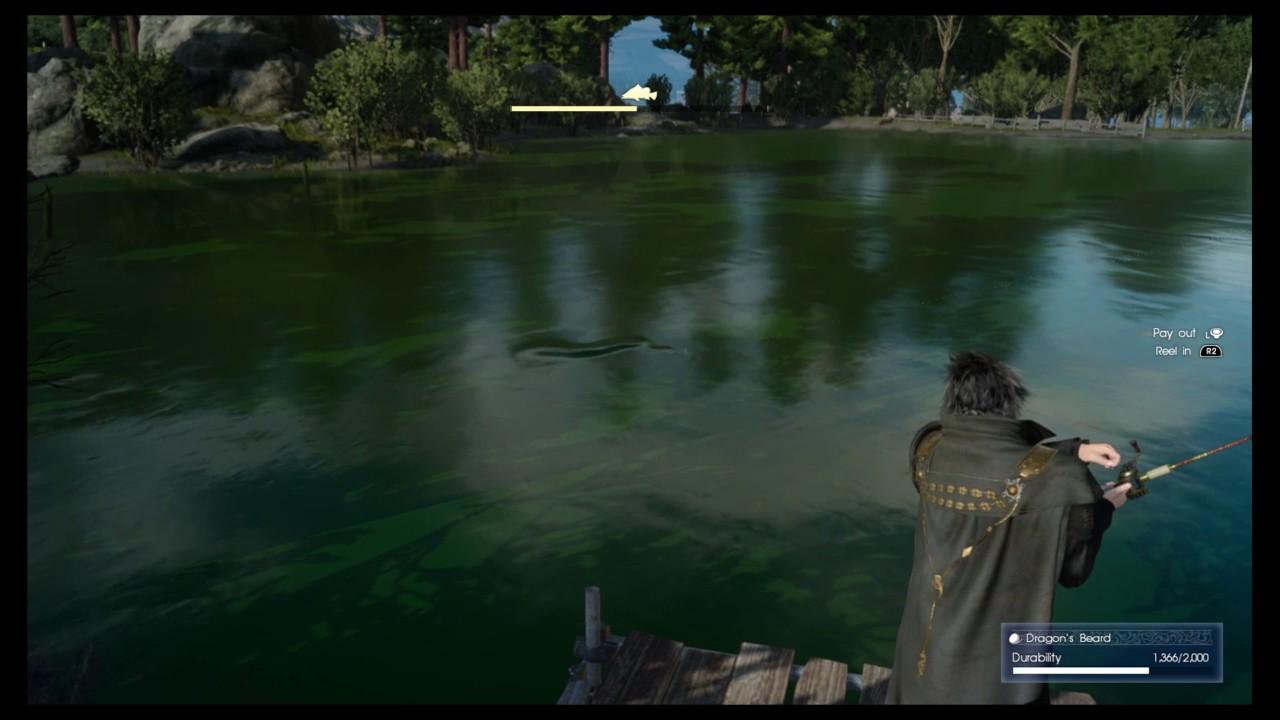 Final fantasy xv fishing dusk lucian carp youtube for Final fantasy 15 fishing