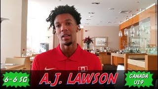 A.J. Lawson: 2019 FIBA U19 World Championship Interview