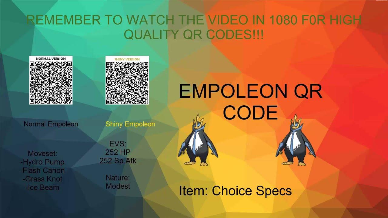 Pokemon QR codes! Empoleon and Pidgeot! - YouTube