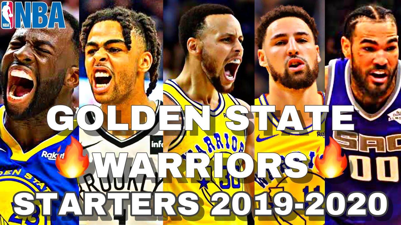 Warriors Schedule 2020.Teamday Golden State Warriors Starting Lineup 2019 2020 Nba Season Gsw Veight