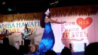 ポリネシア文化センターのパフォーマンス(HULAソロ)