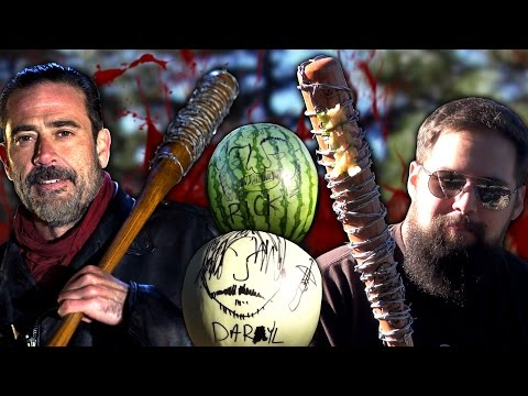 NEGAN'S BAT MELON SMASH   The Walking Dead Season 7 Predictions