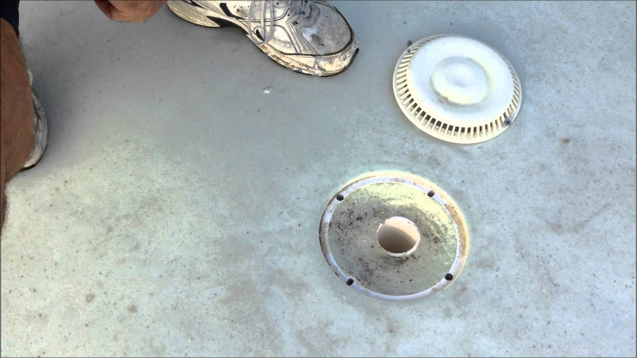 Swimming Pool Drain Sump Youtube