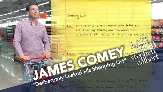 James Comey Deliberately Leaked His Shopping List, Too thumbnail