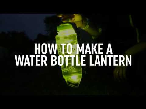 Camping Hacks: How to make a water bottle lantern