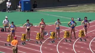 2017NANBU Memorial Women's100m heat2 Chisato FUKUSHIMA11.53(-1.6) 福島千里 福田真衣 和田麻希 福島千里 検索動画 5