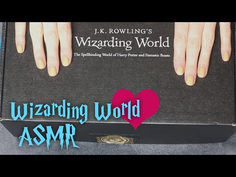 ASMR Wizarding World Crate Unboxing (🎧 soft spoken, packaging, fabric sounds, light tapping)