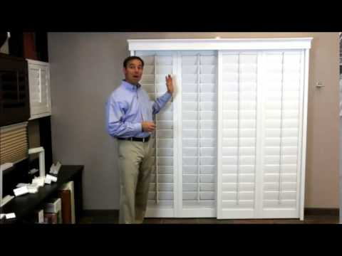 Plantation Shutters On A Sliding Glass Door Youtube