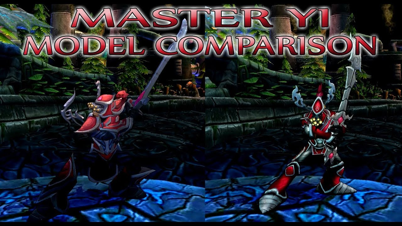 Master Yi Visual Upgrade 2013 Model Comparison Youtube