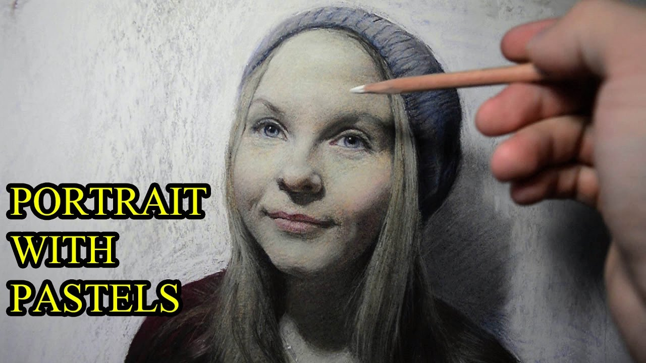 How i draw a photo realistic portrait with pastels youtube ccuart Images