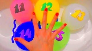 Семья Пальчиков Учим Цифры 11-15 Цвета Лопаем Шарики Finger family Learning Colour Number ChildrenTV