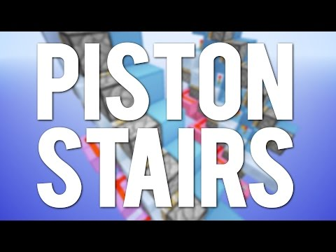 Minecraft: Automatic Piston Stairs [Tutorial]