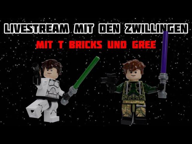 Livestream mit den Zwillingen (mit T Bricks)