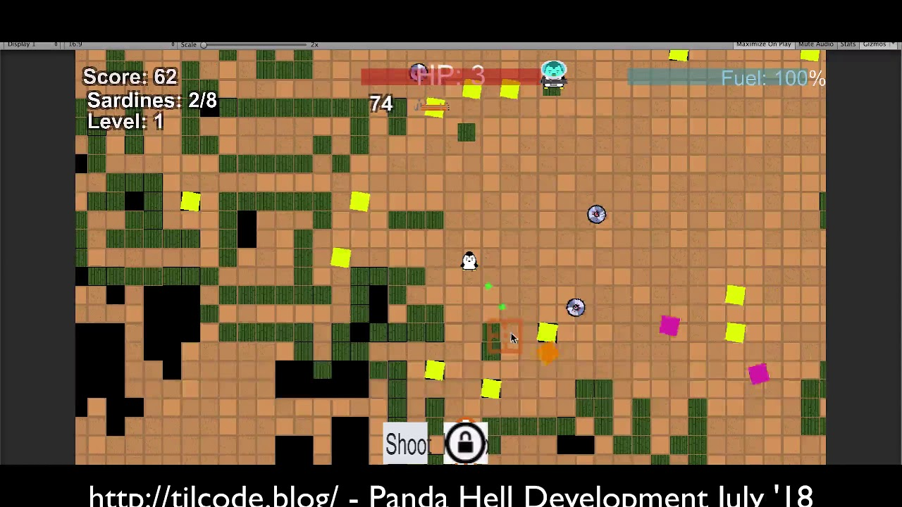 Panda Hell update #7: Procedural level generation is live