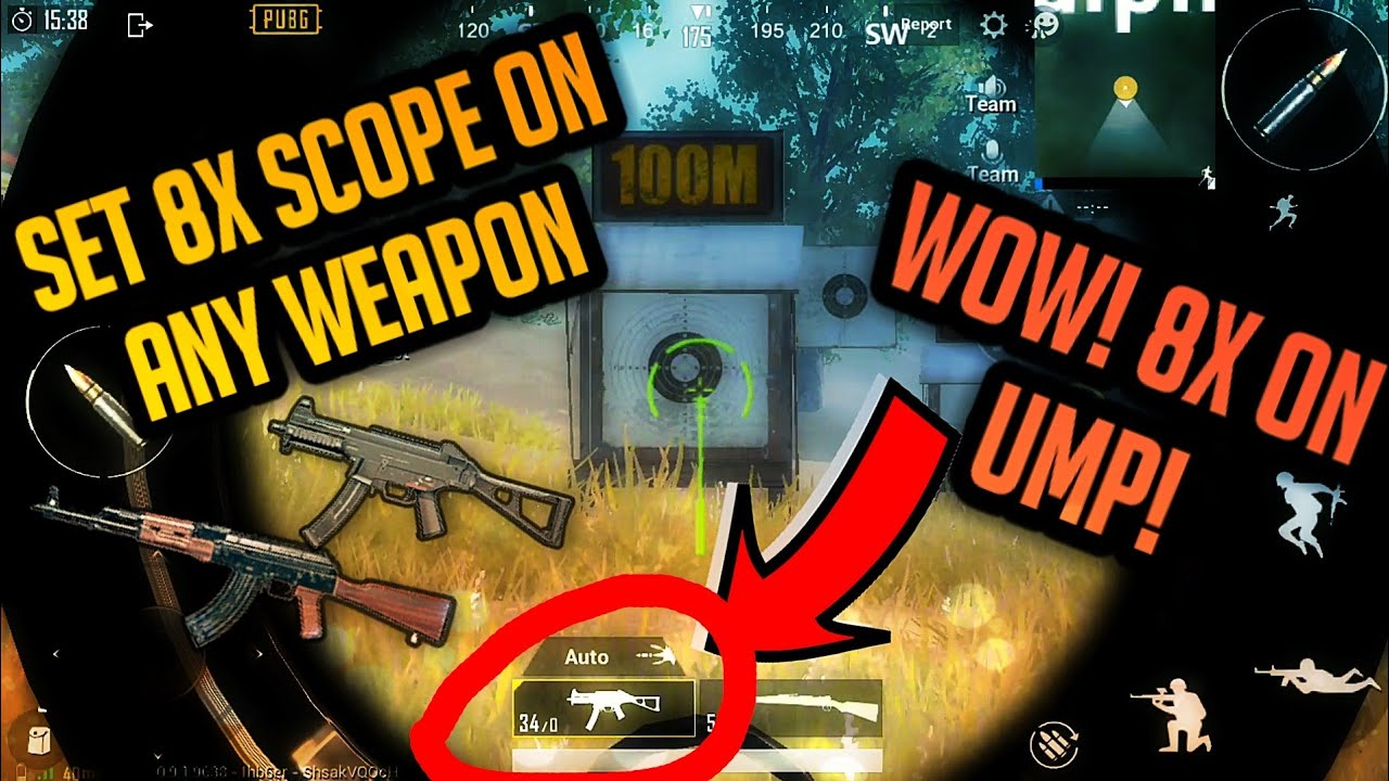 How to set 8x scope on any Weapon |Pubg Mobile Trick|