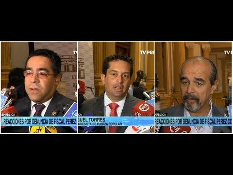 Congresistas opinan sobre denuncia de José Domingo Pérez contra fiscal de la Nación