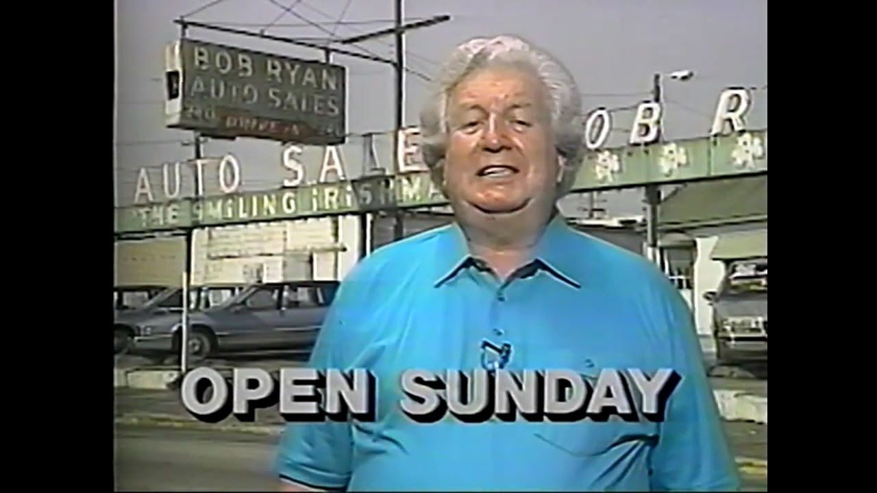 "Bob Ryan ""Smiling Irishman"" Auto Sales Louisville KY 90s Era Commercial 