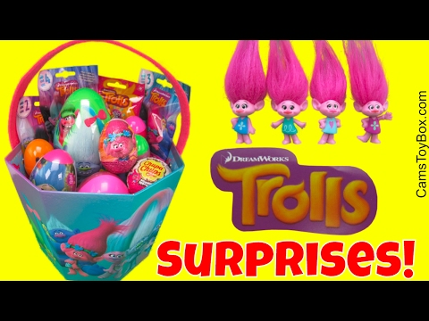 Dreamworks Trolls Surprise Plastic Easter Eggs Chocolate Blind Bags Series 3 4 2 Chupa Chups Lollipo