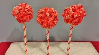 Peppermint Crunch Popcorn Pops