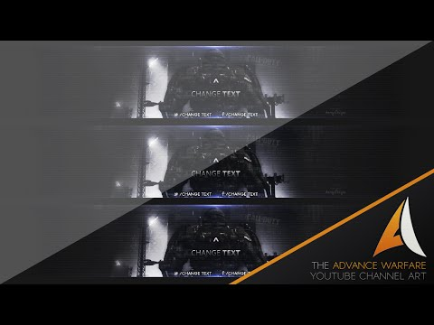 AmzeyDesigns// Advance Warfare YouTube Channel Art Template