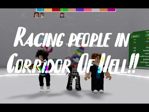 RBLX: Racing people in Corridor Of Hell!!