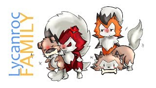 Pokemon Chibi Requests #5: Lycanroc Family.