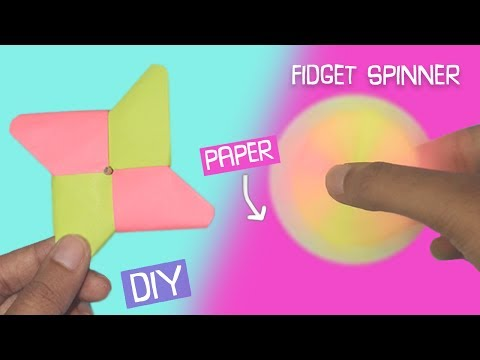 DIY Fidget Spinner using only PAPER! EASY Craft | Craftosphere