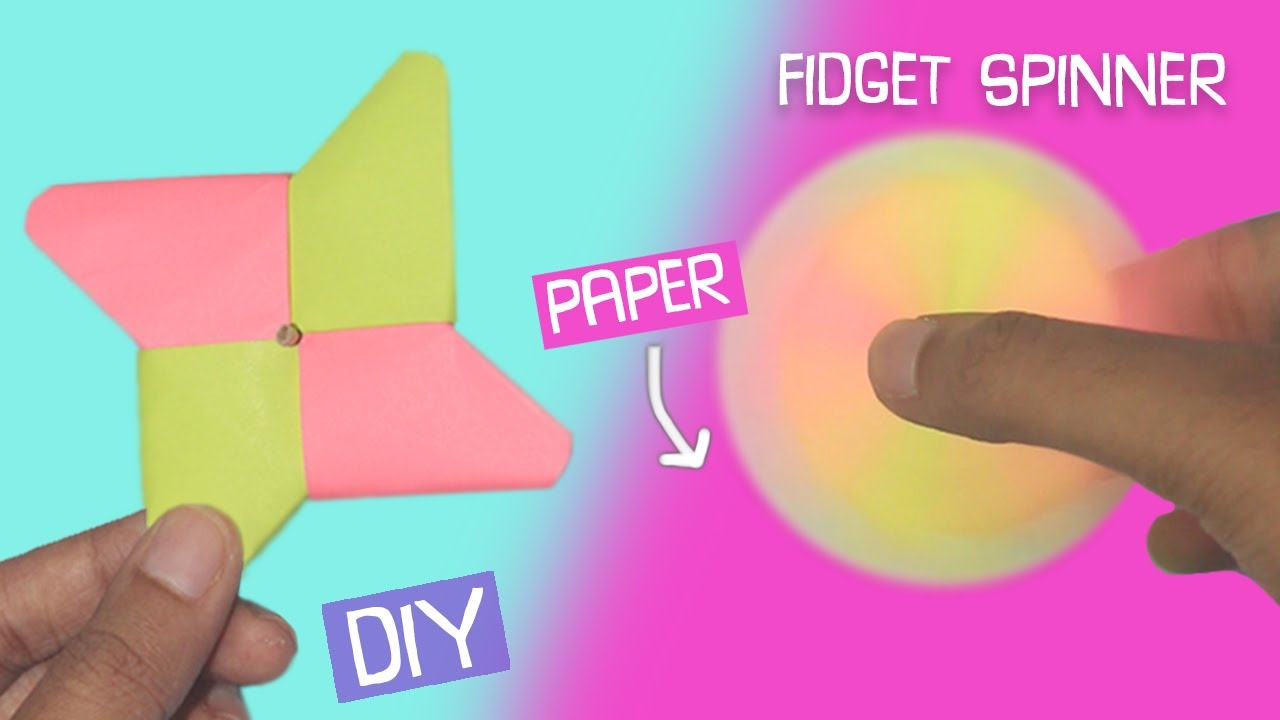 Diy Fidget Spinner Using Only Paper Easy Craft Craftosphere Youtube