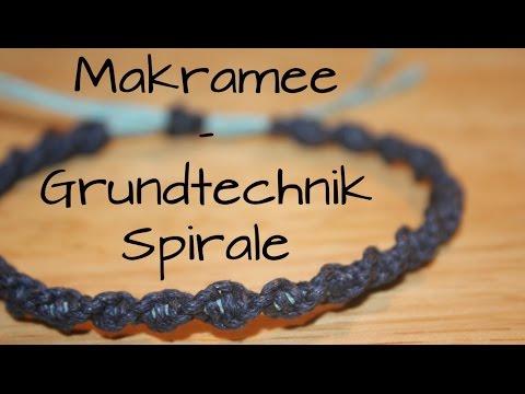 Makramee: Grundtechnik Spirale