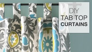 DIY Tab Top Curtains