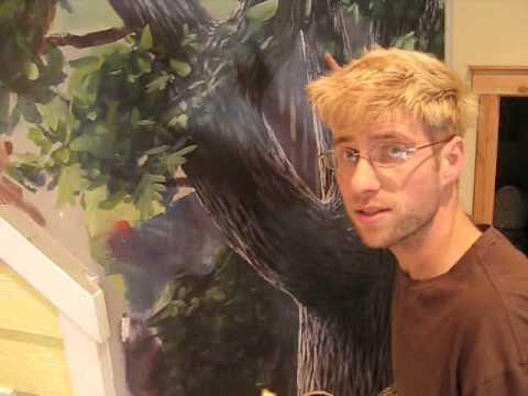 How to create depth mural joe youtube for Mural joe painting