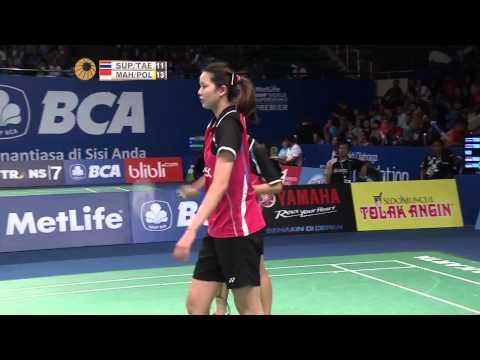 BCA Indonesia Open 2015 | Badminton R16 M1-WD | Supajirakul/Taerattanachai vs Maheswari/Polii
