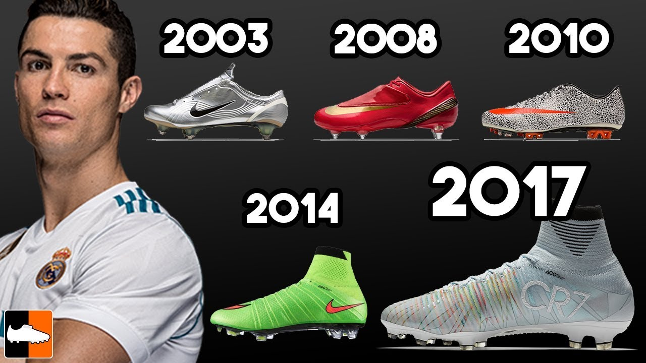 62238f3c842 Ronaldo s New Boots   EVERY Cleat He Has Worn Ever!! Football Boots