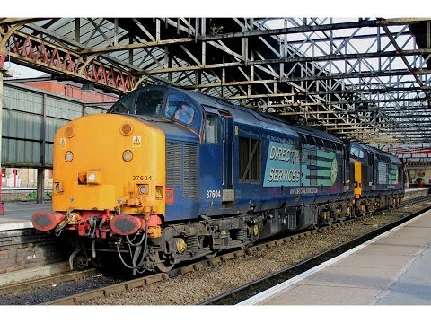DRS Class 37 Thrash at Crewe with a Railtour, Light Engines & Test Train 25/4/2015