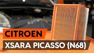 Montaggio Filtro Aria CITROËN XSARA PICASSO (N68): video gratuito