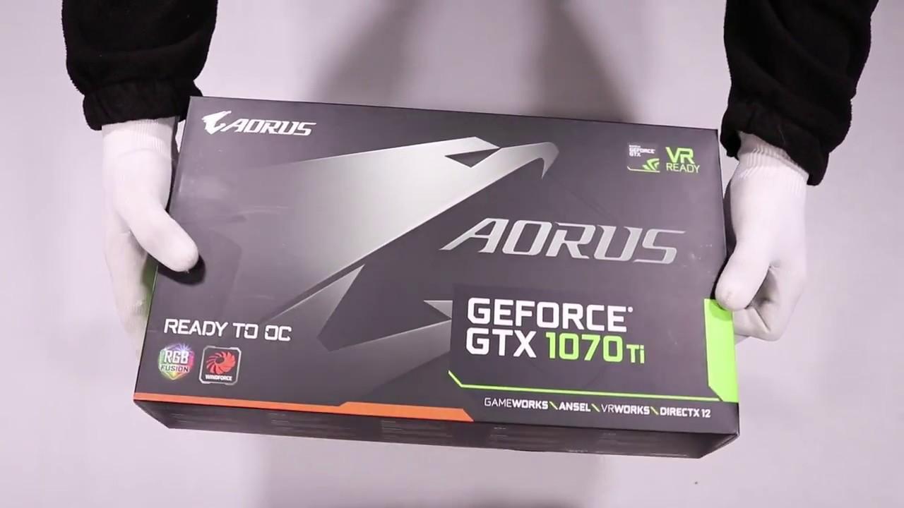 Unboxing Gigabyte GeForce GTX 1070 Ti 8GB DDR5 256BIT DVI/HDMI/DP hands on  review