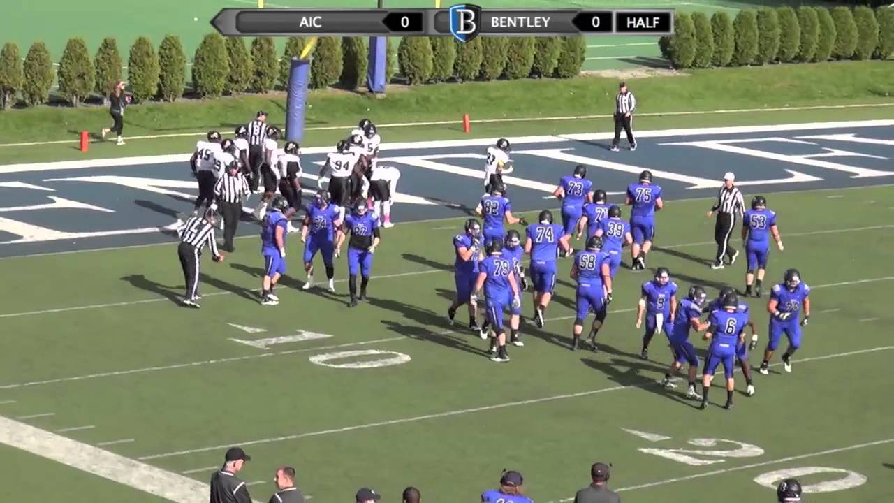Bentley Football vs. AIC 10-17-15 - YouTube