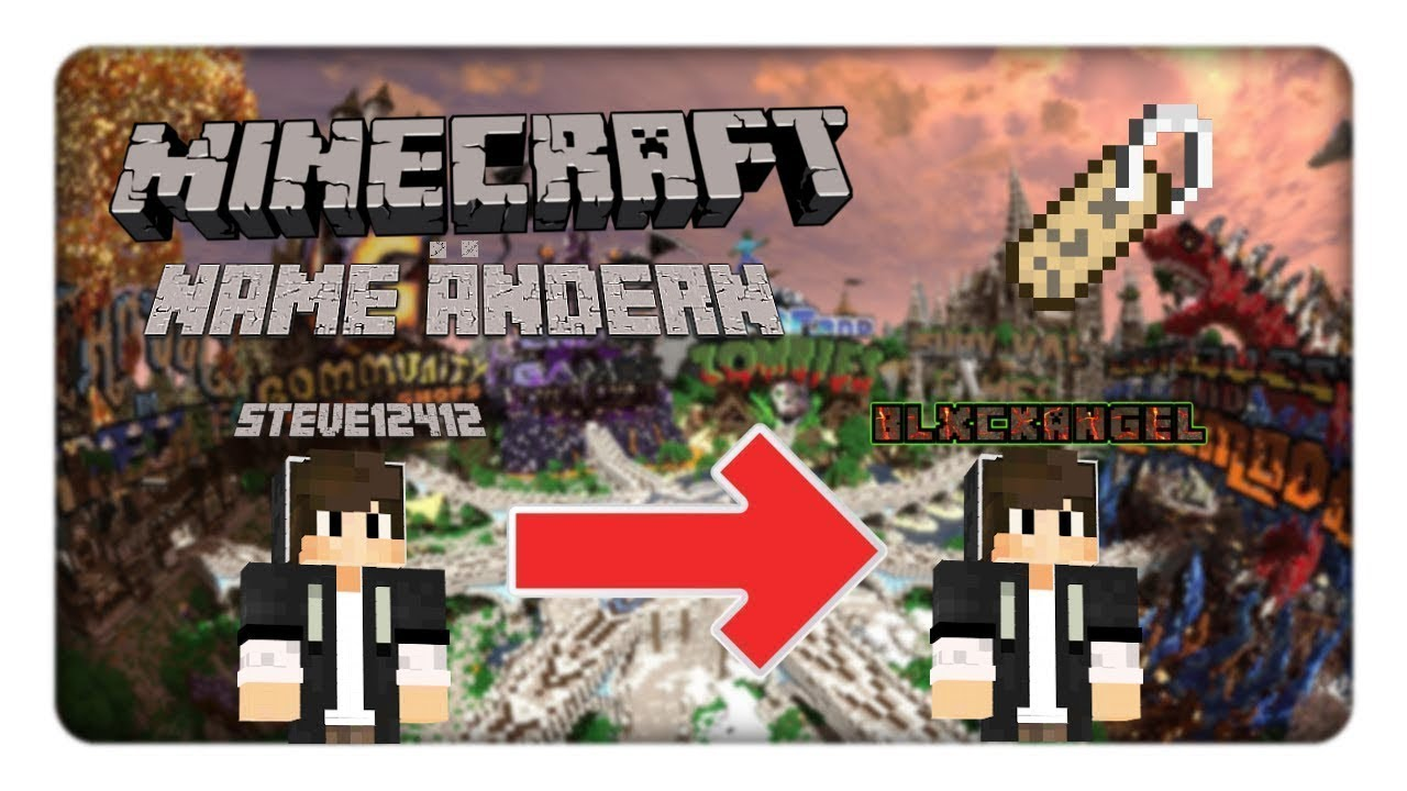 Minecraft NAME Ändern YouTube - Minecraft namen andern 1 12