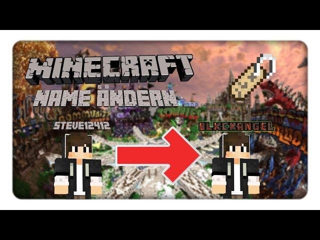 Minecraft Spielen Deutsch Minecraft Namen Ndern Wie Bild - Minecraft spielername andern