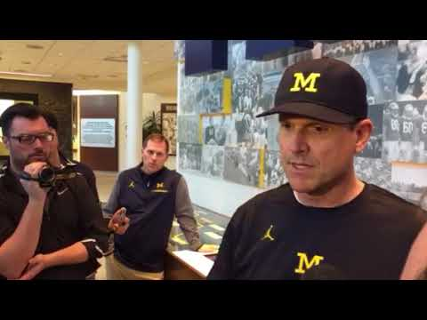 Jim Harbaugh After First Spring Practice