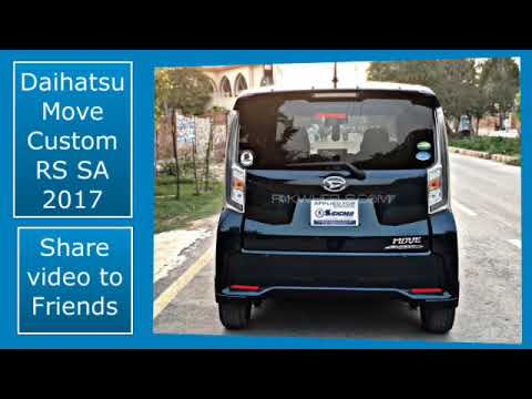 Daihatsu Move Custom RS SA 2017 Review PKR003 FOR SALE in Pakistan and Features